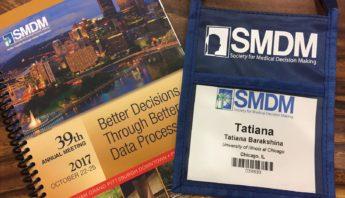 Medical Decision-Making: SMDM Conference -- Tatiana's reflections